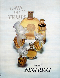 Nina Ricci Perfumes Vintage French Original Adverts