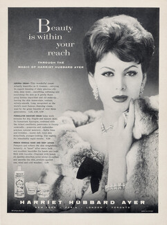 Collectibles Publicite Advertising 1972 Harriet Hubbard Ayer Cosmétiques Flor Breweriana, Beer