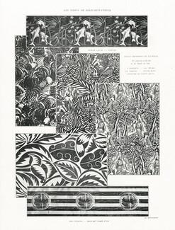 Toiles Imprimées de Tournon 1924 Raoul Dufy (4 motifs au centre) Textile  design 185c7dfc1bf