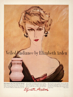 Cheap Price 1945 Elizabeth Arden All Day Foundation Cream Cosmetic Rene Bouche Art Ad Collectibles