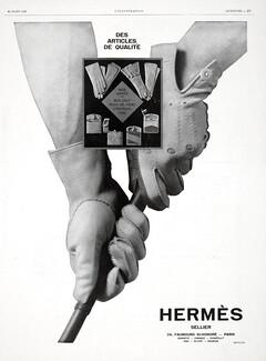 1a14d8ec88bc Hermès — Gloves — vintage French original adverts