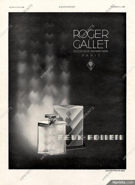 Parfums Publicité FolletsArt Decol— 1930 Feux Rogeramp; Gallet 7yb6Yfvg