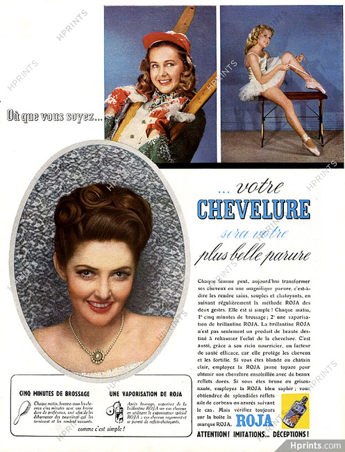 Roja 1949 Hairstyle — Hair care — Advertisements