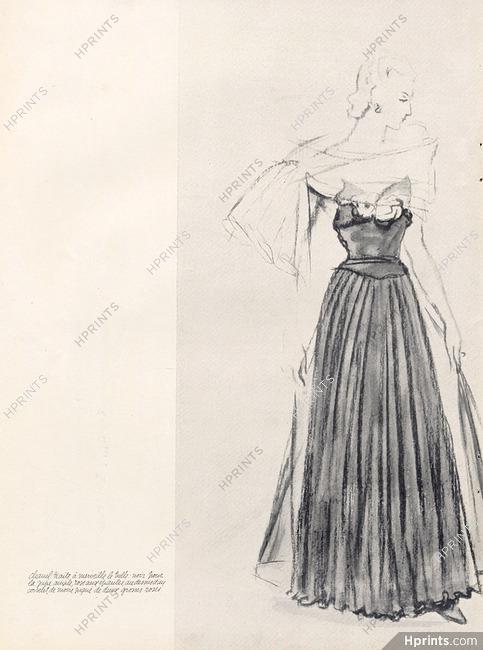 Chanel 1937 Robe de tulle noir d108f9acc