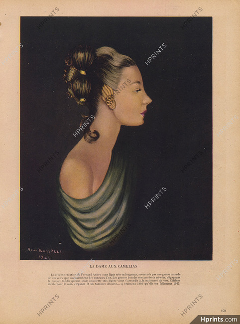 Fernand Aubry Louis Gervais Hairstyle 1945 Rina Rosselli