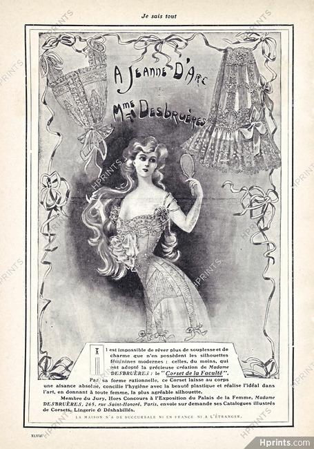 49fbc19014215 Madame Desbruères (Corsetmaker) 1905 A Jeanne d'Arc, Art Nouveau Corset