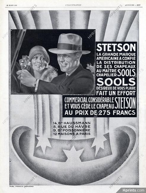ea0771e966f Stetson (Men s Hats) 1928 Sools — Men s fashion — vintage French ...