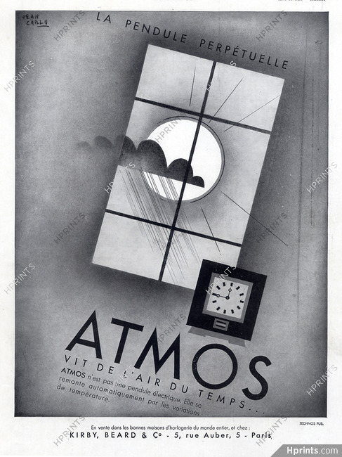 Atmos 1931 Pendulum Jean Carlu Jaeger Lecoultre