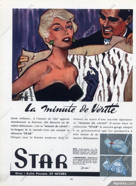 92d1e53e77289 Star (Lingerie) 1957 Brassiere, Pierre Couronne — Lingerie — vintage ...