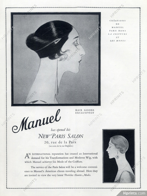 Manuel (Hairstyles) 1926 Moderne Wig, Art Deco Style