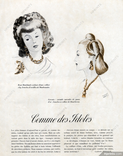 Rene Rambaud Hairstyle Louis Gervais Hairstyle 1945 Jewels