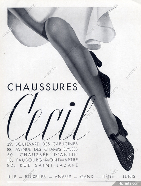 special sales entire collection amazing selection Cecil (Shoes) 1938 — Women's shoes — vintage French original ...