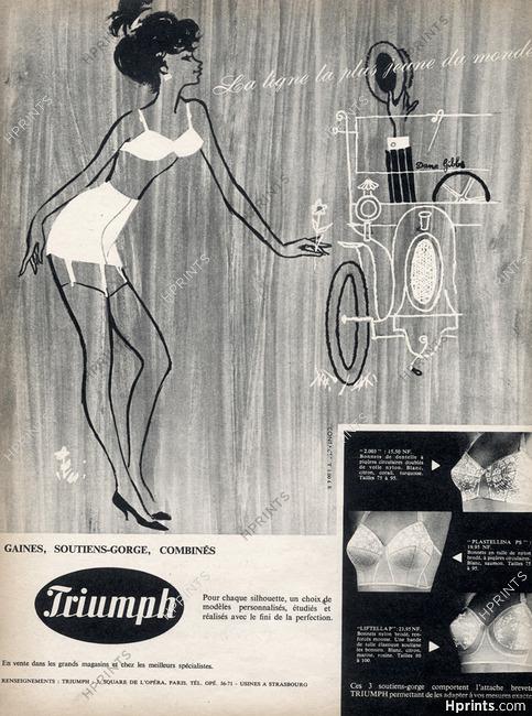 8309a6bfc0687 Triumph (Lingerie) 1960 Dane Gibbs, Girdle Bra — Lingerie — vintage ...