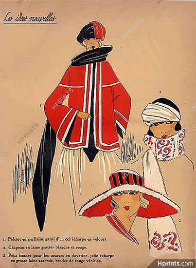 1923 Les Idees Nouvelles de la Mode Fashion Art Deco Pochoir