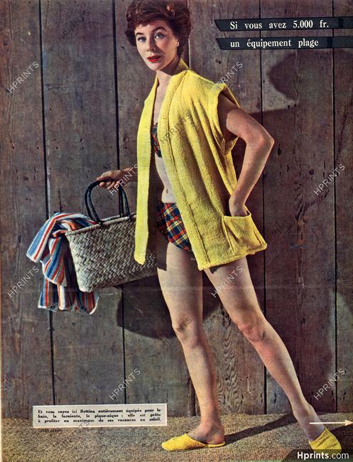 Bettina Graziani (Top Model) 1953 Photo Chevalier