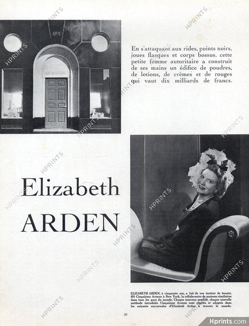 Elizabeth Arden, 1949 - Biography Artist's Career, 6 pages
