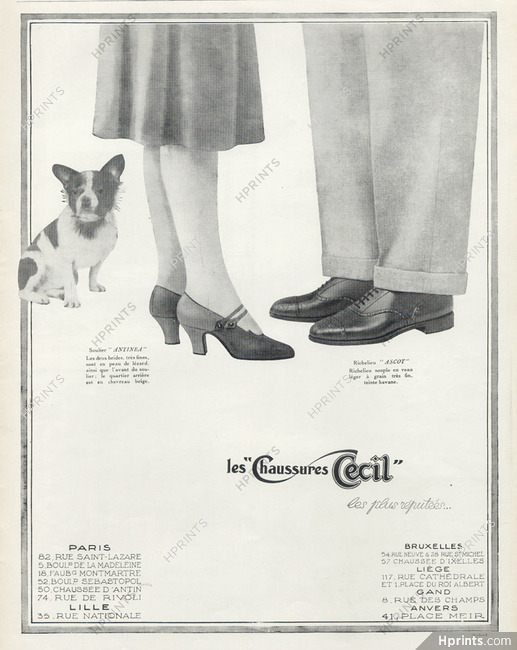 detailing wholesale buy good Cecil (Shoes) 1926 French Bulldog — Advertisements