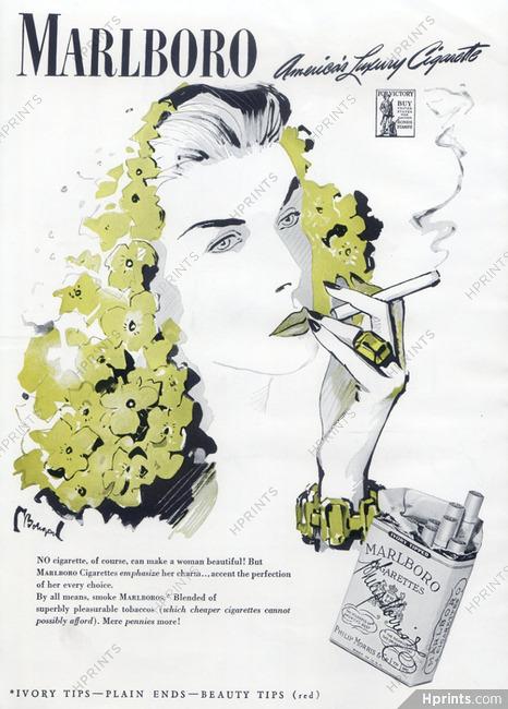 Marlboro (Cigarettes, Tobacco Smoking) 1943 Bodegard