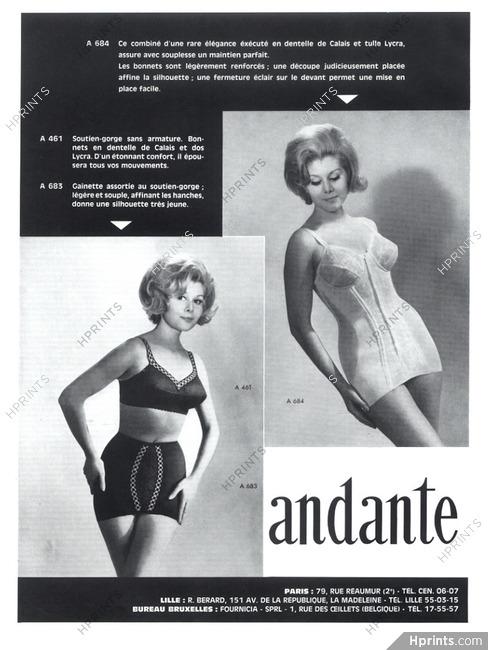 e0f6fd3622164 Andante (Lingerie) 1965 Combiné, Girdle, Bra — Lingerie — vintage ...