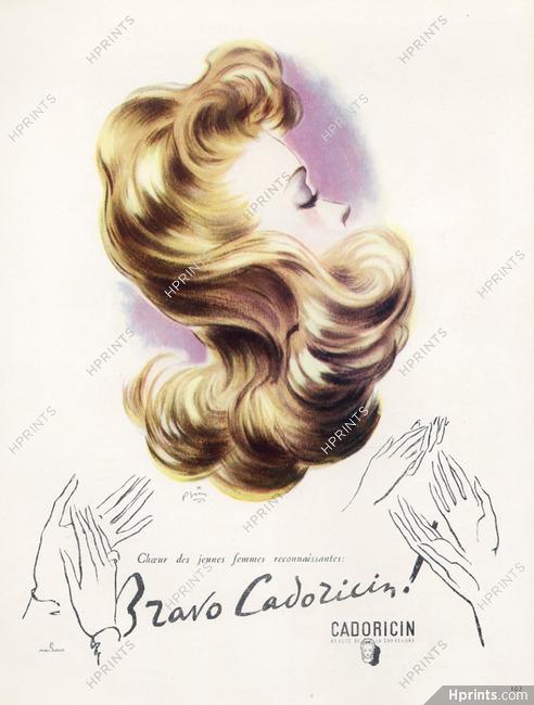 Cadoricin Cosmetics 1945 Hairstyle Hair Care Pierre Simon Hair