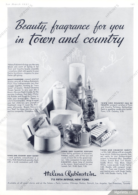 Helena Rubinstein (Cosmetics) 1937 — Cosmetics — vintage