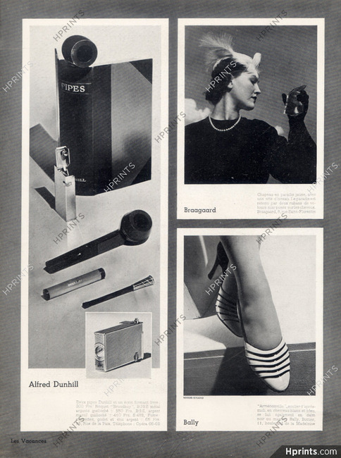Alfred Dunhill (Lighters) 1937 Pipe, Cigarette Holder, Bally (Shoes
