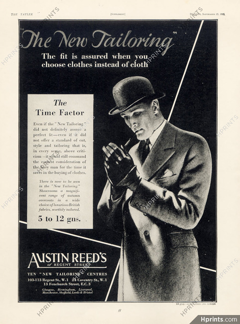Austin Reed S Men S Clothing 1929 Advertisements