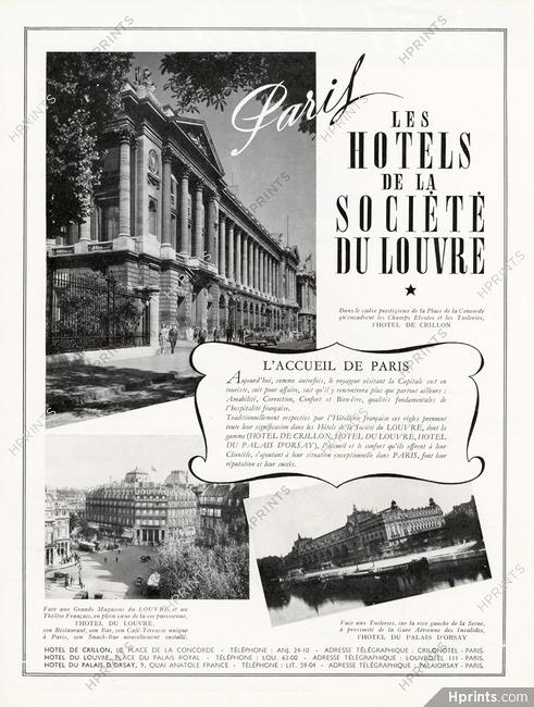 Hôtels de la Société du Louvre 1951 Hôtel de Crillon, Hôtel