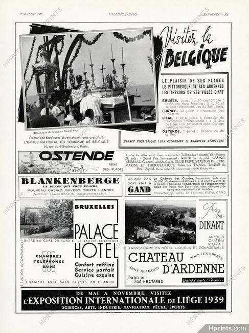 Office du Tourisme - Belgique 1939 Ostende, Gand — Tourism ...
