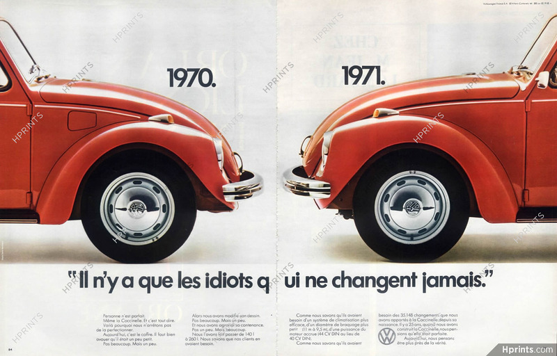 heiß-verkaufendes echtes glatt Sonderangebot Volkswagen (Cars) 1971 Coccinelle — Automobiles — publicité ...