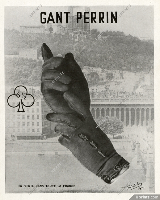 Perrin (Gloves) 1941 Fourvière, Photo G.L. Arlaud, Lyon