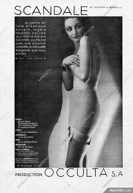 f96d6b91835f2 Scandale (Lingerie) 1934 029 Occulta, girdle — Lingerie — vintage ...
