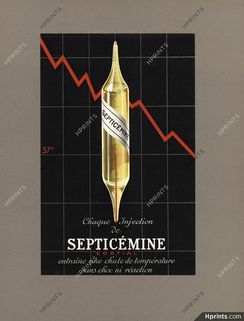 Septicémine 1936 Laboratoires Cortial, création Draeger