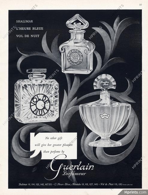 Guerlainperfumes1956 De Vol Bleue NuitShalimarL'heure TK1FclJ