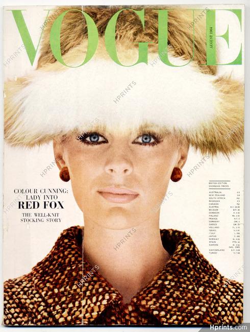 UK Vogue British Magazine 1964 August, Red Fox, Helmut Newton, Otto