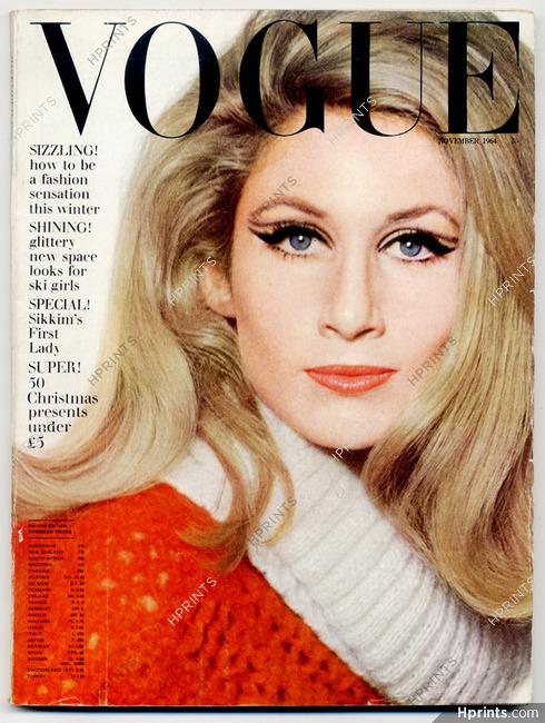 UK Vogue British Magazine 1964 November, Jane Holzer, David Bailey