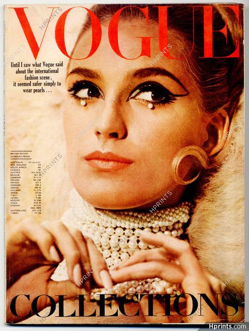 UK Vogue British Magazine 1965 September, Mikimoto pearls