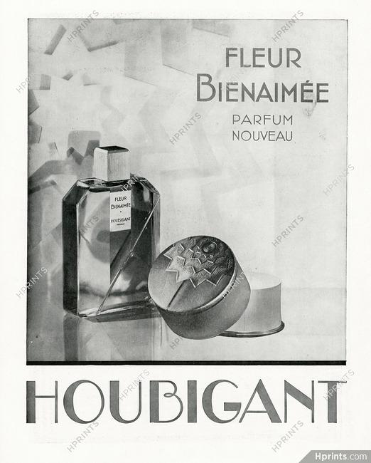 1930 Publicité Ancienne Parfums — Bienaimée Fleur Originale Houbigant NwPZn0OX8k