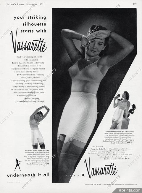 07b88432fe26e Vassarette (Lingerie) 1951 Brassiere, Girdle — Lingerie — vintage ...