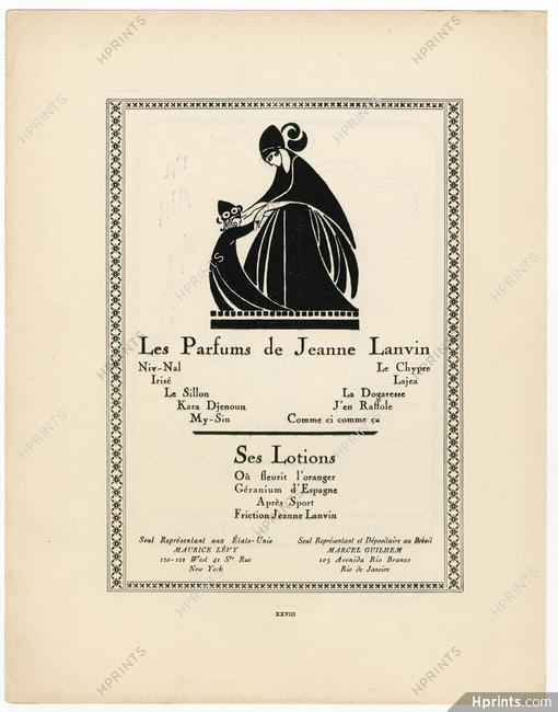 Lanvin (Perfumes) 1924 Parfums & Lotions Gazette du Bon Ton