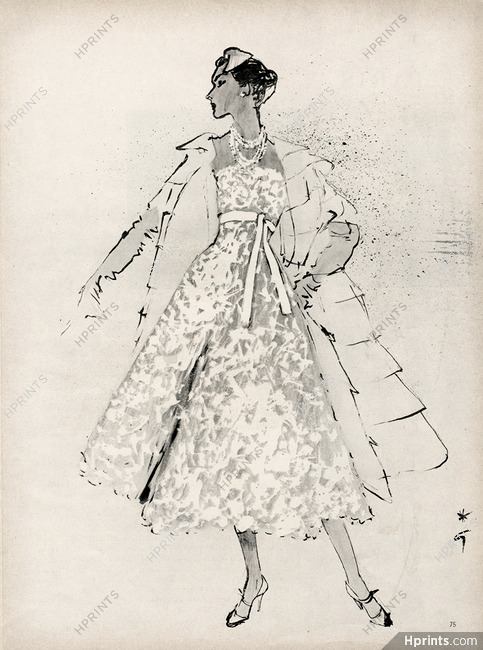 sports shoes 90ab1 7060a Christian Dior A line 1955 Dinner Dress, Lace, White Ribbon ...