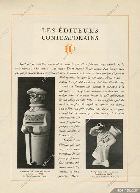 Robj (Decorative Arts) 1930 Le joueur de Golf, Le Caddy