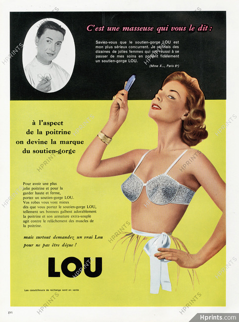 be254d21715 Lou (Lingerie) 1958 Brassiere — Lingerie — vintage French original ...