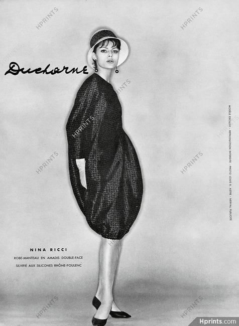 Nina Ricci 1961 Robe Manteau Ducharne Photo Louis Astre