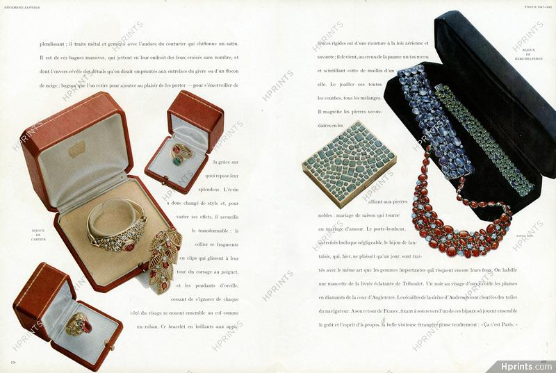 vente usa en ligne vaste sélection dernière vente Le Grand Air des Bijoux - 4 pages 1947 Cartier, Herz ...