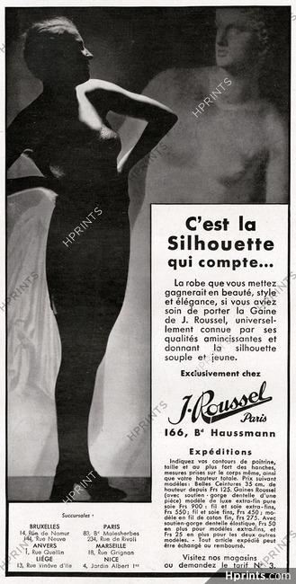 37dddb08f1521 J. Roussel (Girdles) 1935 — Lingerie — vintage French original advert