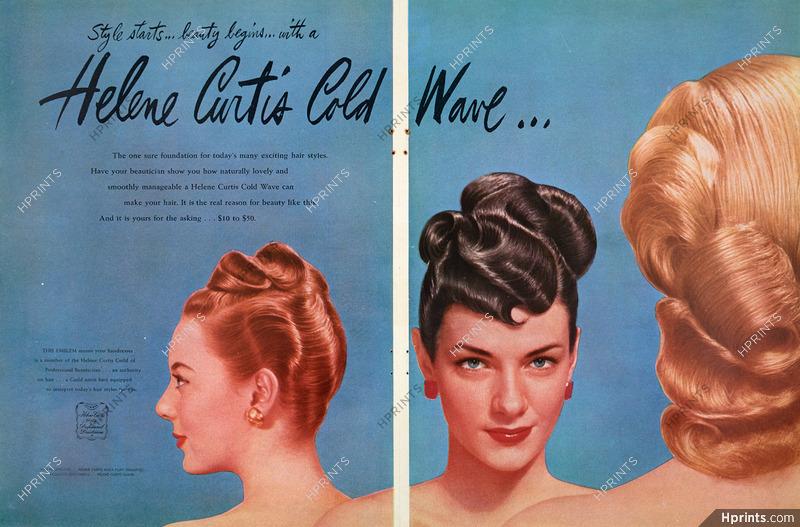 Helene Curtis Hair Care 1945 Circa Cosmetics Vintage French