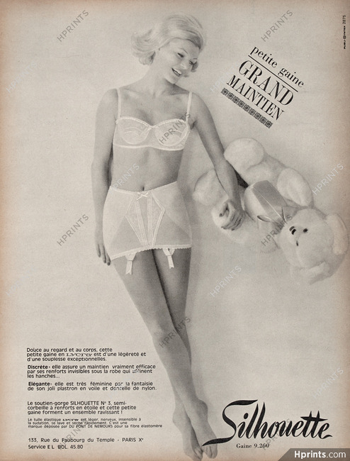 d831ee4bf9f06 Silhouette (Lingerie) 1965 Girdle — Lingerie — vintage French ...