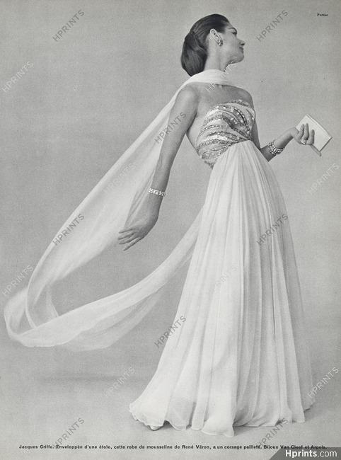 Jacques Griffe 1956 Robe De Gala Rene Veron Van Cleef