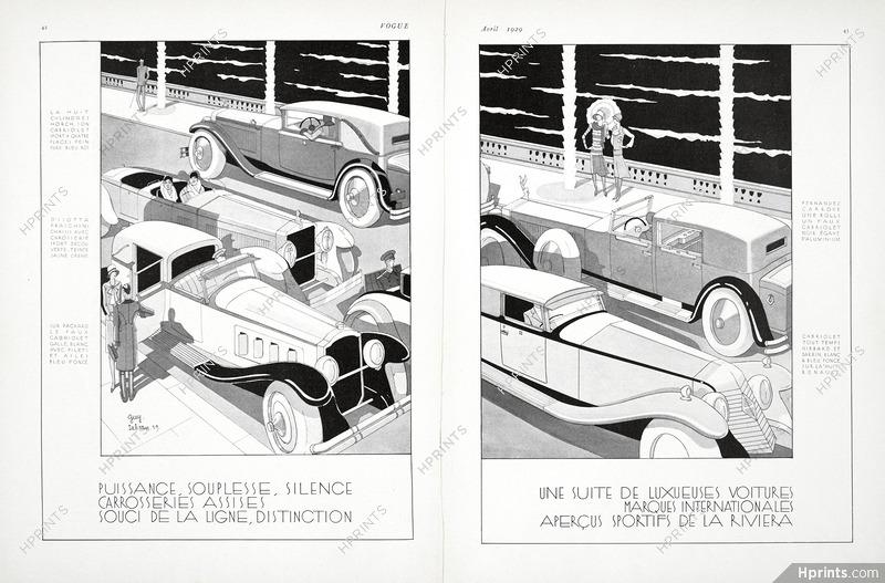 Guy Sabran 1929 Horch, Isotta Fraschini, Packard, Rolls-Royce